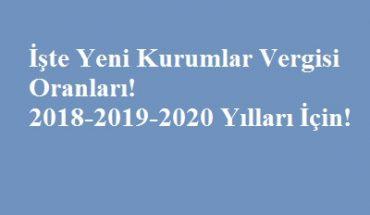 kurumlar vergisi 2018 2019 2020
