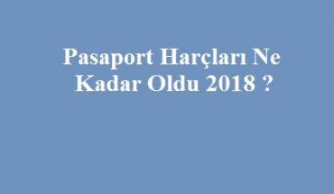 2018 pasaport harçları
